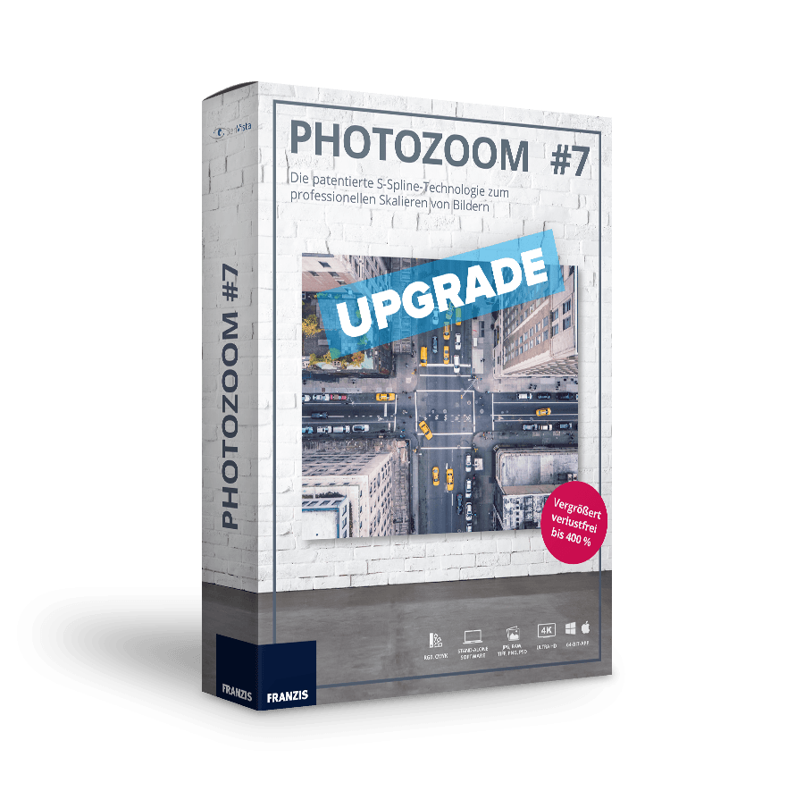 PhotoZoom 7 - Upgrade von elements Vorversionen